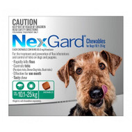 NexGard Flea and Tick Treatment for dogs in tasty chew Medium to Large dog 10.1 - 25kg 3 Pack