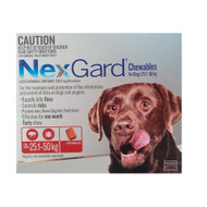 NexGard flea and tick treatment in a tasty chew for LARGE dogs 25 - 50 kg 3 Pack FREE SHIPPING