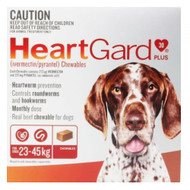 Heartgard Red for Large dogs 6 chews heartworm, worm treatment