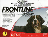 Frontline plus for Large Dogs 40 - 60 kg 3 pack