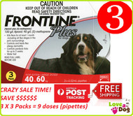 Frontline Plus Flea and Tick treatment for Large Dogs 40-60kg | Love A Pet/ Love A Dog
