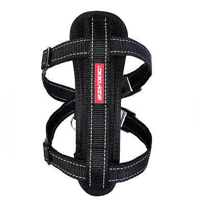 EzyDog Chest Plate Harness - Black