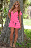 PINK Cute hunting deer skull beach coverup--ALSO in Black and orange