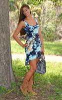Hi Low classy teal tie dye deer hunting dress