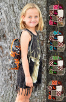 Kids Patchwork camouflage backpacks