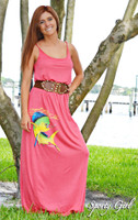 Coral maxi fishing dolphin dress