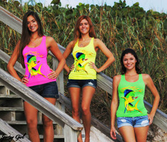 Dolphin One Size fits SOME Neon Tank Top