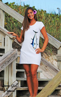 Hanging Blue fin tuna t-shirt dress