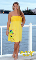 Ruffle Yellow Dolphin Dress