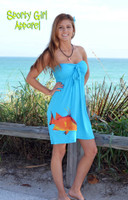 Blue Hogfish Tube-top Dress