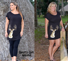 Basic T-shirt style deer dress