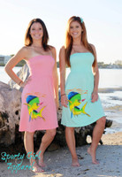 Dolphin fishing onesize dress strapless