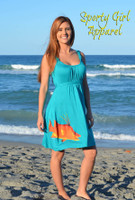 Only Xl left Teal Blue Hogfish Dress