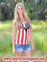 The American Flag Bombshell tank top