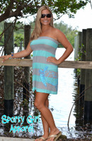 Mint and Gray strip turtle dress 40% OFF