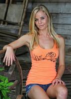 Hog Hunting Neon Orange Womens Tank Tops