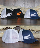 Flex Fit mesh back gator skull hats