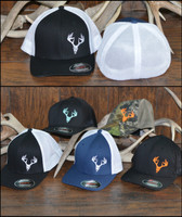 Flexfit mesh back deer skull caps