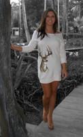 Deer Sweater Dress