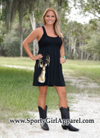 Cute Country Black Deer Dress