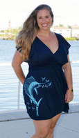 Plus Size Blue Womens Sailfish Dress