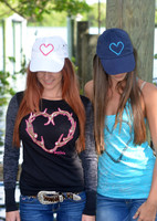 Fishing Heart Hook Hats