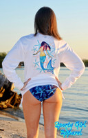 Mermaid with starfish loose fitting sun shirt