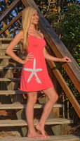 Coral starfish  ONESIZE fits some dress with Straps dress