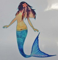 sunset mermaid decal