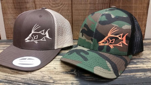 Mens Snapback brown or camo mesh hogfish hats
