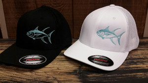 Mens Mesh back fitted Flex fit White or Black TUNA HAT