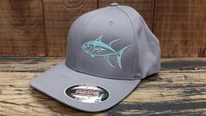 Seafoam TUNA gray flexfit L/XL fitted hat