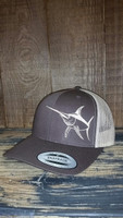 SWORDFISH on a two toned brown snapback adjustable hat