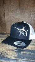 SWORDFISH Black adjustable snap back hat