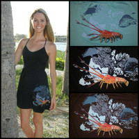 Spiny Lobster Onesize dress with straps