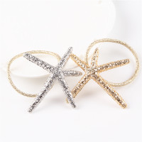 Glittery Starfish hair ties