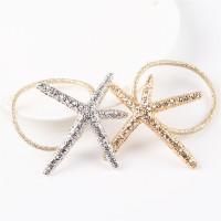 Glittery Starfish hair ties