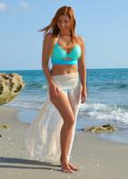 Sheer Tan beach skirt
