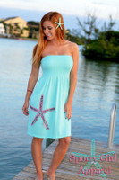 Onesize Strapless Aqua STARFISH dress
