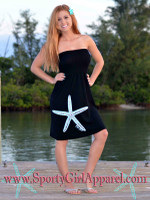 Onesize Strapless BLACK STARFISH dress