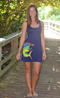 Navy Racer Back Dolphin Dress