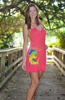 Coral Pink Strapy Mahi Mahi dress