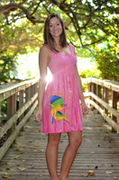 Tie Dye racerback one size  PINK DOLPHIN  DRESS