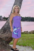 Onesize fits some light Purple marlin tube top dress