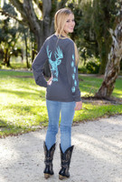 Gray/Mint long sleeve  big buck with tracks