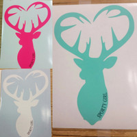 Buck Head heart decal