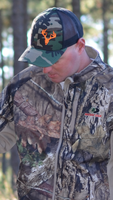MEN's camo with neon orange snapback  Deer Skull HATS