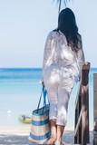 Women's Starfish white open front cardigan