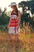 Tube top coral tie dye dress