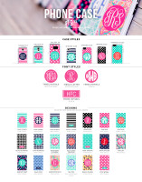 Monogram phone cases